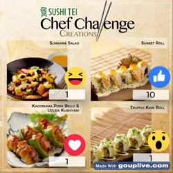 [Sushi Tei] Fans of Sushi Tei, let us know which of the following Chef Challenge Creations is your favourite!