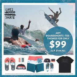 [Isetan] LIFESbetterinboardSHORTs But it's even better when you get to save over $50 when you purchase any Men's boardshorts +