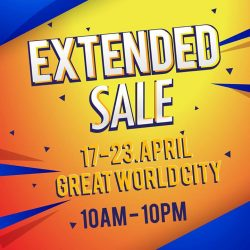 [Home-Fix Singapore] Come down to our extended sales @ Great World City B1!