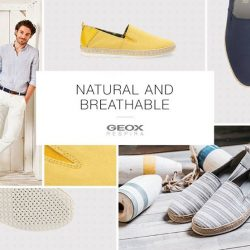 [GEOX] Make summer dressing a breeze and experience natural comfort all day long with Geox's new range of breathable espadrilles -
