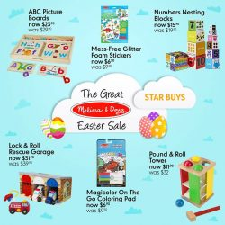 [Mothercare] Mothercare Online Exclsuive: The Great Melissa & Doug Easter Sale It's not too late to celebrate Easter 🐇✨ Check out these