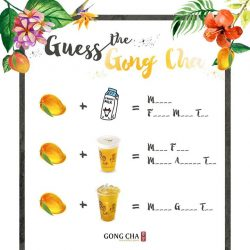 [Gong Cha Singapore] Test your Gong Cha knowledge and stand a chance to WIN Gong Cha drink vouchers!
