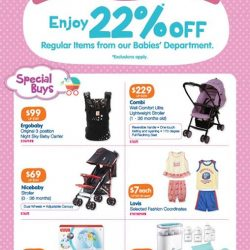 [BHG Singapore] Check out our Baby Fair Promotions and Special Buys!