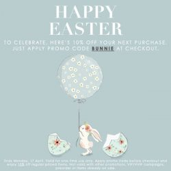 [LaPrendo] To celebrate the Easter weekend, here's 10% off your next purchase.