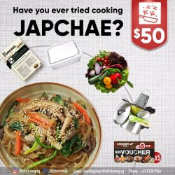[CHICKEN UP] Have you heard of Japchae, a delicious Korean dish made from glass noodle?