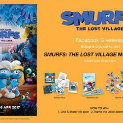 [Filmgarde Cineplex] Stand a chance to win SMURFS: THE LOST VILLAGE movie premiums!