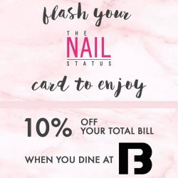 [The Nail Status] Flash your TNs Privilege Card at @boufesg to enjoy 10% off !