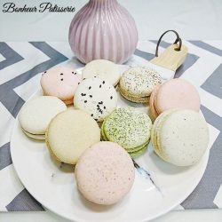 [Bonheur Patisserie] For the month of April, we are offering $25 for a box of 10 macarons of your choice every Monday