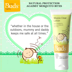 [Bud Cosmetics] Protect your little ones from mosquito bites with our best selling Outdoor Mozzie Clear Lotion.