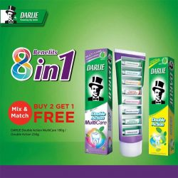 [Watsons Singapore] There's an EXTRA reason to smile with Darlie now with BUY 2 GET 1 FREE.