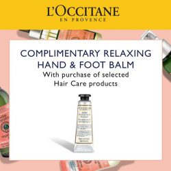 [L'Occitane] Daily exposure to blow-drying  or heat straightening / curling tools can put your hair at high risk of becoming thin &