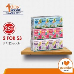 [Guardian] Save 25% and get Guardian Ultra Soft Facial Tissue at a special price of 2 for $3 (U.