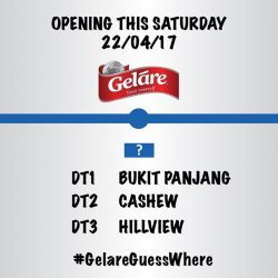 [Gelare Café] Hi guys, we have a new outlet opening on this Saturday 22/04/17.