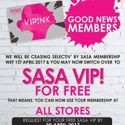 [Selectiv' by Sasa] Attention all Selectiv' by Sasa members.