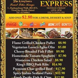 [The King Louis Bar & Grill] Brand New Lunch Menu, Lowest Price Ever.