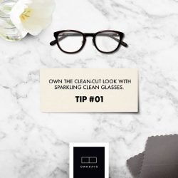 [Owndays Singapore] Here's a tip to help your glasses stay crystal-clean.