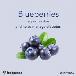 [foodpanda] ProfPanda - Blueberries are known to be extremely rich in fibre, making it a perfect fruit in warding off heart diseases
