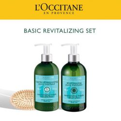 [L'Occitane] For fresh & lightweight hair, look out for our Basic Revitalizing Set which includes:1.