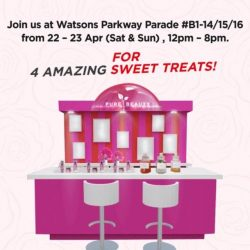 [Watsons Singapore] More sweet treats await you at our Pure Beauty Urban Shield Pop-up Beauty bar at Watsons Parkway Parade B1-