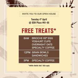 [Cedele] FREE TREATS DAY* is here and everyone is invited to our exclusive Open House @ GSH Plaza!