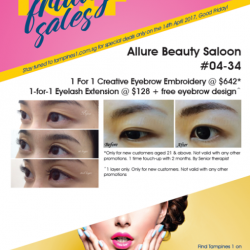 [Allure Beauty Saloon] TGIF Friday Sales @ Allure Beauty TM1 tomorrow!