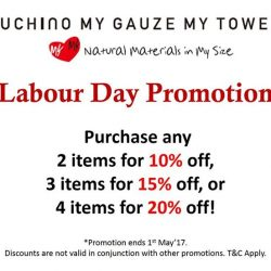 [Uchino] Don't miss out our Labour Day promotion happening at Uchino MYMY boutique!