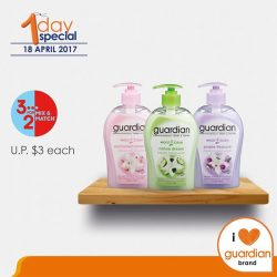[Guardian] Get 3 Guardian Moist Clean Cream Hand Wash (assorted) at the price of 2 (U.
