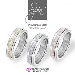 [Heart To Heart Jewellery Singapore] Spin™ is a fascinating ring design for all contemporary fashion seekers.