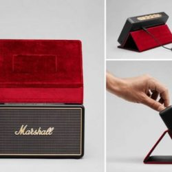 [Stereo] Built for life on the road, the Stockwell is the smallest and lightest travel speaker made by Marshall today.