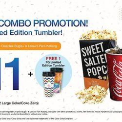[Filmgarde Cineplex] Free limited edition tumbler with every purchase of large popcorn combo!