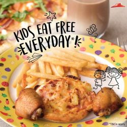 [Pizza Hut Singapore] Indulge your little one with their very own meal – kids now eat FREE with you any time, any day* with
