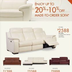 [Sofa Outlet] IN-STORE PROMOTIONEnjoy up to 20% + 10% off made-to-order sofa.