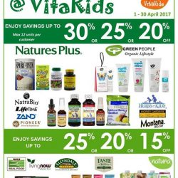[VitaKids] Hurry, last few days to shop our April Sales!