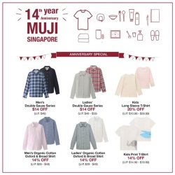 [MUJI Singapore] Come on down this weekend and bring home your favourite pieces.