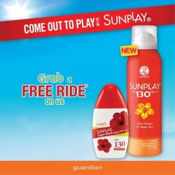 [Guardian] Come out to play with Sunplay sg and redeem a FREE RIDE on Grab!