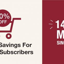 [MUJI Singapore] The perfect time to shop online is here as we celebrate our 14th year anniversary with you.