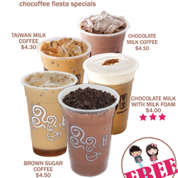 [Changi City Point] Chocoffee Fiesta Special: Try out Gong Cha's new flavour Mocha Coffee with Oreo at $4.