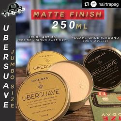 [THE LITTLE BADGE STORE] Repost @hairtrapsg with @repostapp ・・・ 💪JUMBO 250 Ubersuave Wax available ⠀ ⠀ ⠀⠀⠀ ⠀ ⠀⠀⠀ ⠀The UBERSUAVE™ HAIR WAX is a high performing hair wax with