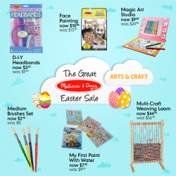 [Mothercare] Mothercare Online Exclusive: The Great Melissa & Doug Easter SaleGet creative with these artsy Melissa & Doug toys!