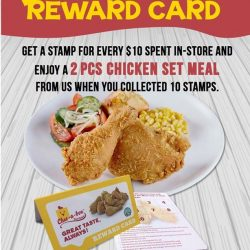[Chic-a-boo Fried Chicken] Hi Chic-a-boo fans, have you got your new Reward Card on hand ?