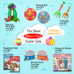 [Mothercare] Mothercare Online Exclusive: The Great Melissa & Doug Easter Sale - last 3 days!