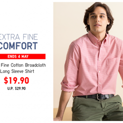 [Uniqlo Singapore] Soft, smooth and with a light sheen, the Extra Fine Cotton Broadcloth Long Sleeve Shirt is an essential piece in