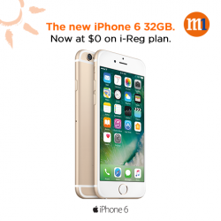[M1] Get iPhone 6 32GB from $0 on $62/mth i-Reg plan.