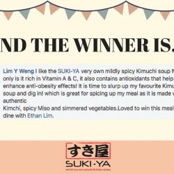 [SUKI-YA] Thank you everyone for sharing with us your favorite soup base from Suki-ya!