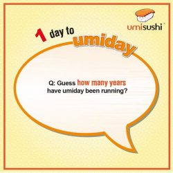 [UMISUSHI Singapore] umiday starts TOMORROW!