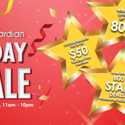 [Guardian] Don't miss out on Guardian's 1 Day Sale, only on 26 Apr 2017, 11AM – 10PM at 63 selected