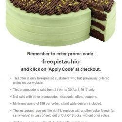 [LA PASTIFICIO] Free one slice of our latest cakes collection - Pistachio Chocolate Cake!