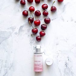 "[Clarins] Hand-picked from the Amazon, Acerolas have a powerful ""whitening in control"" ability so you get brighter skin in every"