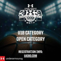 [Hoops Factory] Regrann from @underarmoursg -  UA3x3NEW Release: Calling ALL Male & Female Basketballers in Singapore 🇸🇬 this 15-16 April – you may now