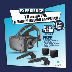 [Harvey Norman] In conjunction with HTC Vive's 1st year anniversary, save $140 when you purchase it today - 1 DAY ONLY!